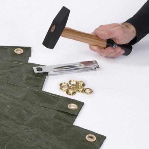 Nýtovací nástroj + 10 kusů kroužků, KRT616107, 10mm