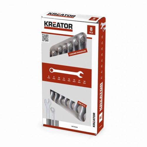 Sada klíčů očko-plochých oboustranných KRT500008, 8 - 19mm, 8 kusů