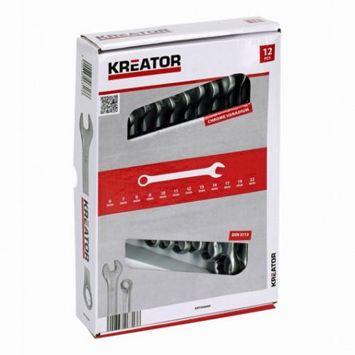 Sada klíčů očko-plochých oboustranných KRT500009, 6 - 22mm, 12 kusů