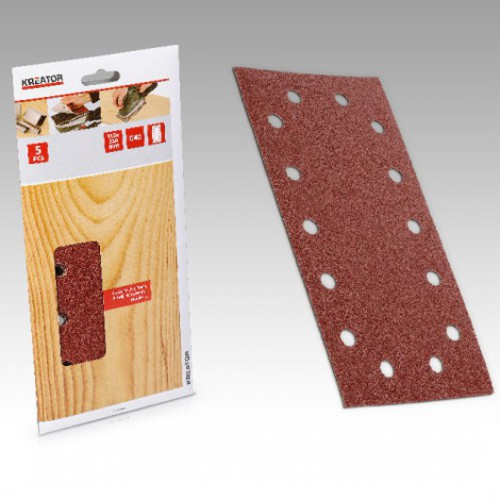 Sady brusných papírů na dřevo 115 x 230mm, KRT203003, 5 kusů