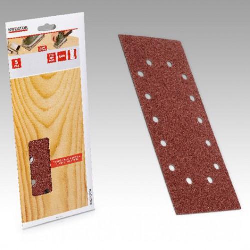 Sady brusných papírů na dřevo 115 x 280mm, KRT203503, 5 kusů