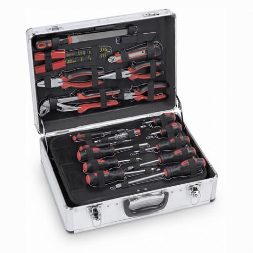 Sada nářadí v hliníkovém kufru KRT951002, 109 kusů