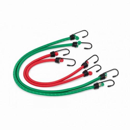 Upínací pás ráčnový a upínací gumy KRT555004, 8 kusů