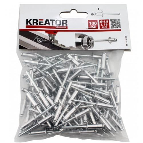 Nýty trhací KRT618106, 4,8 x 16mm, 100 kusů