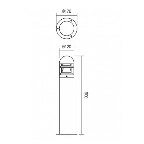 Sloupkové svítidlo exteriérové 9946 moderní ze série Argo