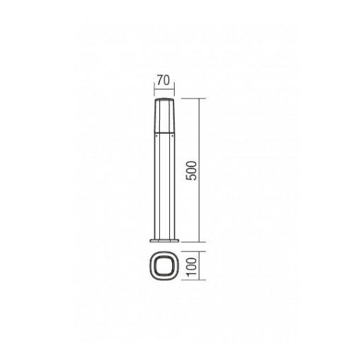 Sloupkové svítidlo exteriérové 9075 moderní ze série Crayon