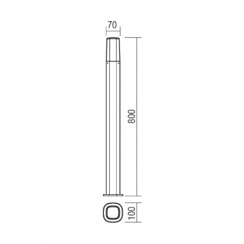 Sloupkové svítidlo exteriérové 9078 moderní ze série Crayon