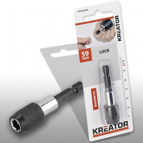 Magnetický držák bitů se zámkem Kreator KRT063300, 59mm