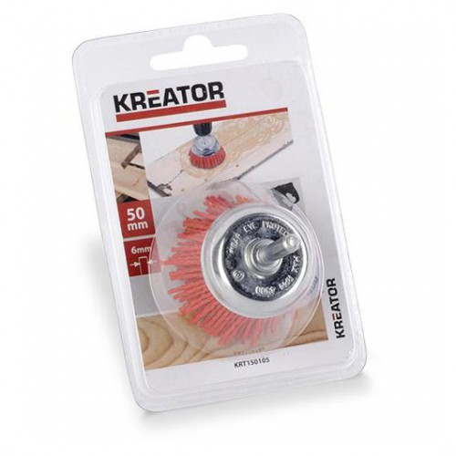 Brusný kartáč nylonový na stopce Kreator KRT150105, průměr 50mm