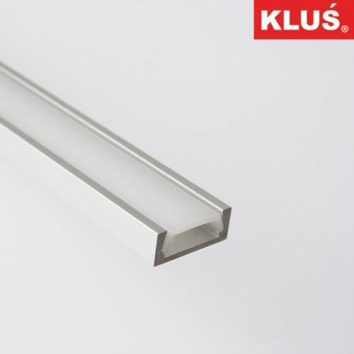 Hliníkový profil pro LED pásky KlusDesign MICRO-ALU, B1888ANODA+mléčný překryv