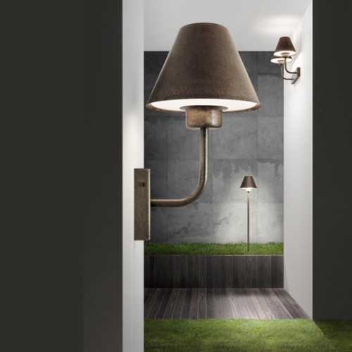 Sloupkové svítidlo exteriérové 261.10.OR rustikální - měď/mosaz