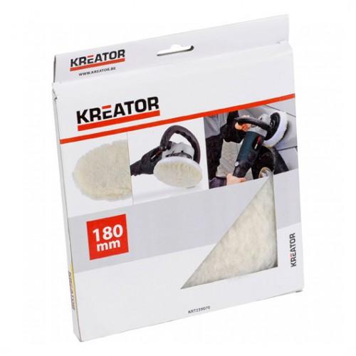 Leštící vlněný kotouč Kreator KRT239070, 180mm
