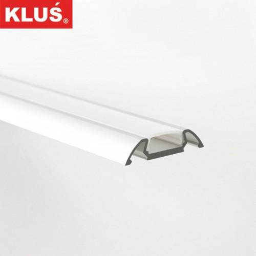 Hliníkový profil pro LED pásky KlusDesign STOS-ALU, B4369+mléčný překryv